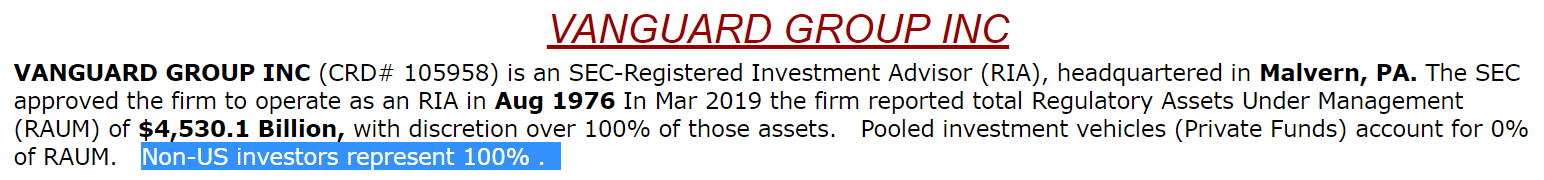 The Vanguard Group Inc